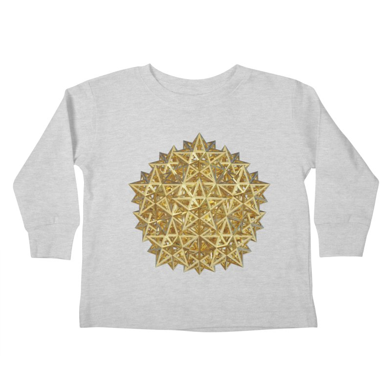 14 Stellated Dodecahedrons Gold Kids Toddler Longsleeve T-Shirt by diamondheart's Artist Shop