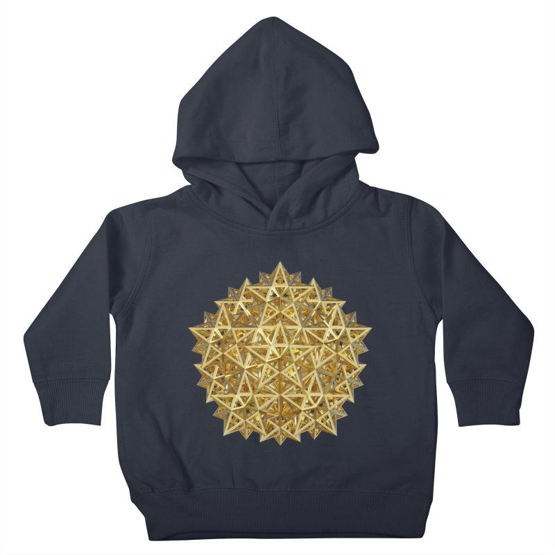 14 Stellated Dodecahedrons Gold Kids Toddler Pullover Hoody by diamondheart's Artist Shop