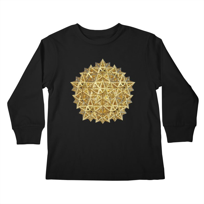 14 Stellated Dodecahedrons Gold Kids Longsleeve T-Shirt by diamondheart's Artist Shop