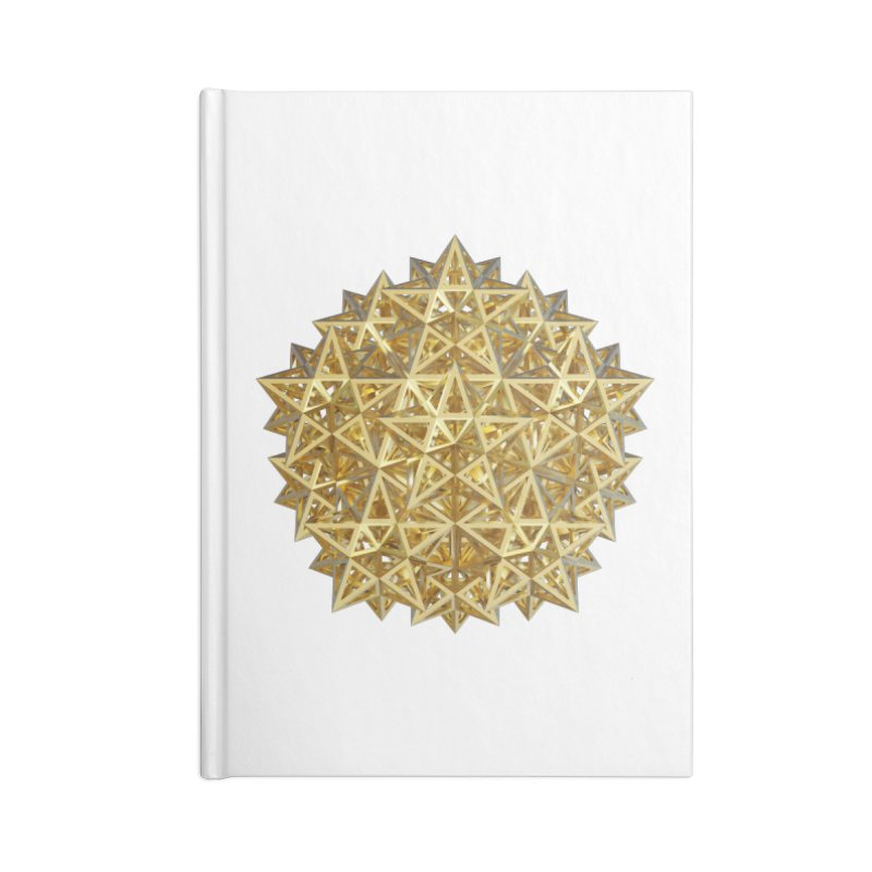 14 Stellated Dodecahedrons Gold Accessories Lined Journal Notebook by diamondheart's Artist Shop