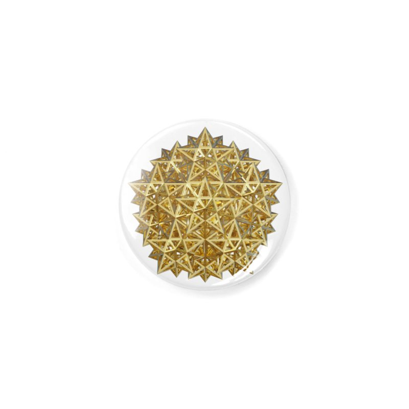 14 Stellated Dodecahedrons Gold Accessories Button by diamondheart's Artist Shop