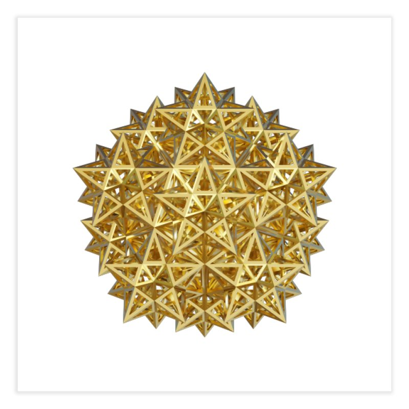 14 Stellated Dodecahedrons Gold Home Fine Art Print by diamondheart's Artist Shop