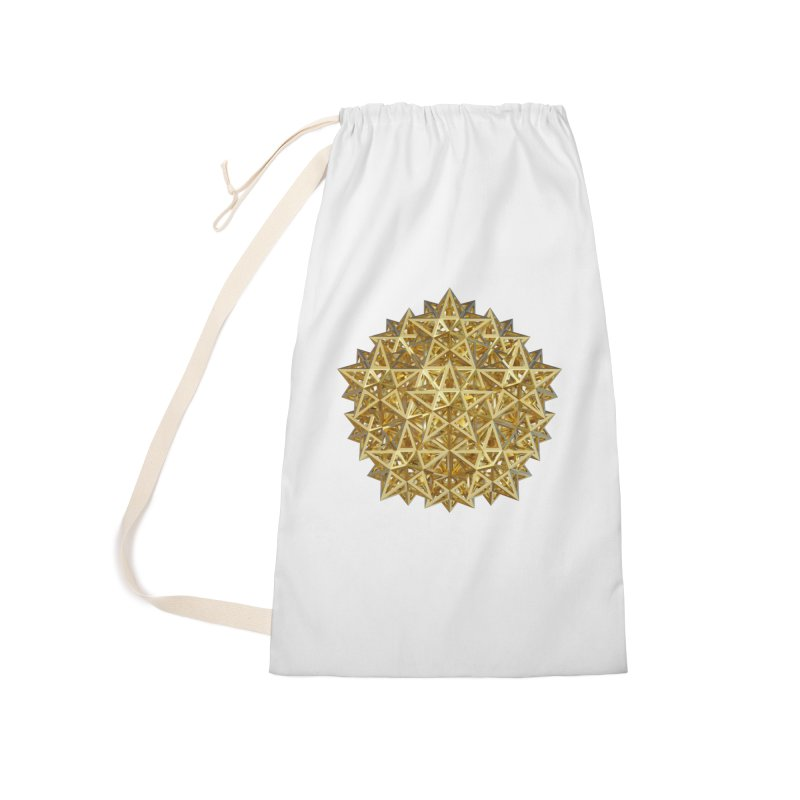 14 Stellated Dodecahedrons Gold Accessories Laundry Bag Bag by diamondheart's Artist Shop