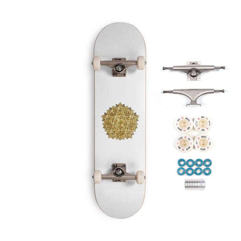 14 Stellated Dodecahedrons Gold Accessories Complete - Premium Skateboard by diamondheart's Artist Shop