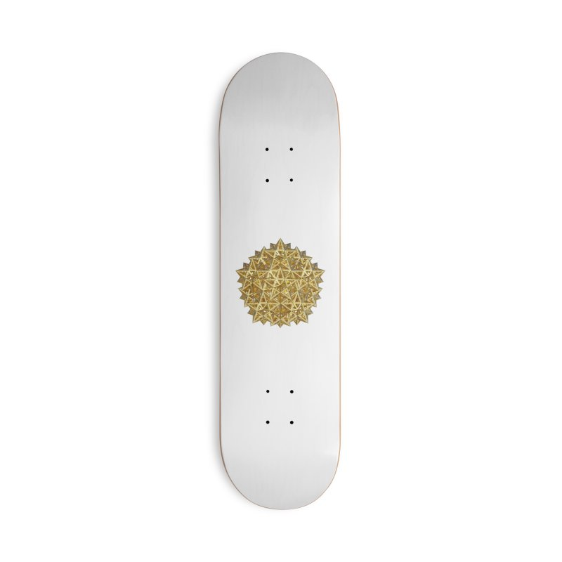 14 Stellated Dodecahedrons Gold Accessories Skateboard by diamondheart's Artist Shop