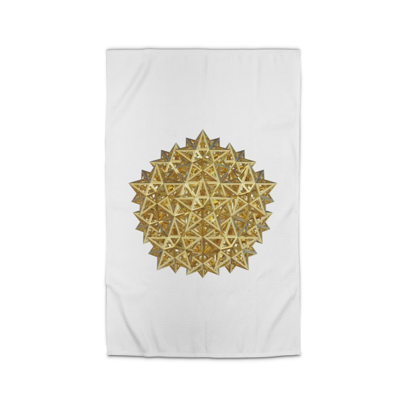 14 Stellated Dodecahedrons Gold Home Rug by diamondheart's Artist Shop