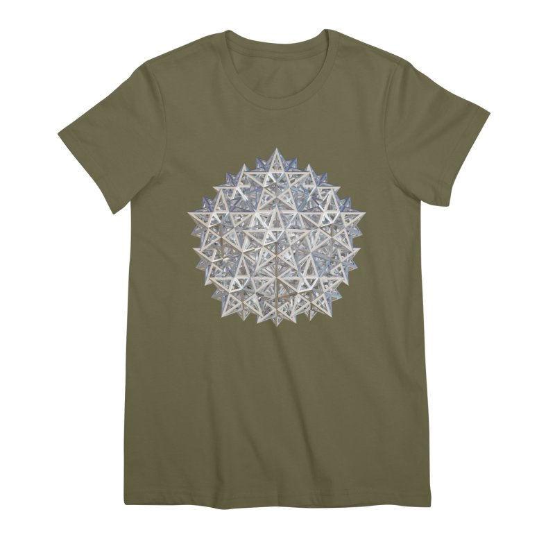 14 Stellated Dodecahedrons Silver Women's Premium T-Shirt by diamondheart's Artist Shop