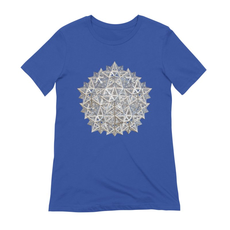 14 Stellated Dodecahedrons Silver Women's Extra Soft T-Shirt by diamondheart's Artist Shop