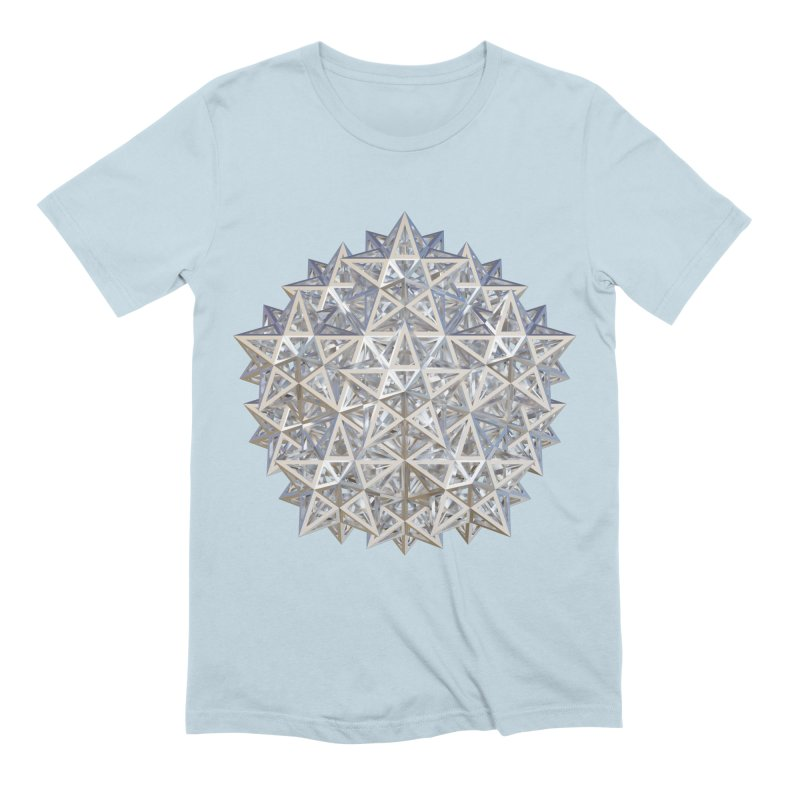 14 Stellated Dodecahedrons Silver Men's Extra Soft T-Shirt by diamondheart's Artist Shop