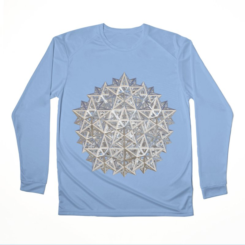 14 Stellated Dodecahedrons Silver Men's Performance Longsleeve T-Shirt by diamondheart's Artist Shop