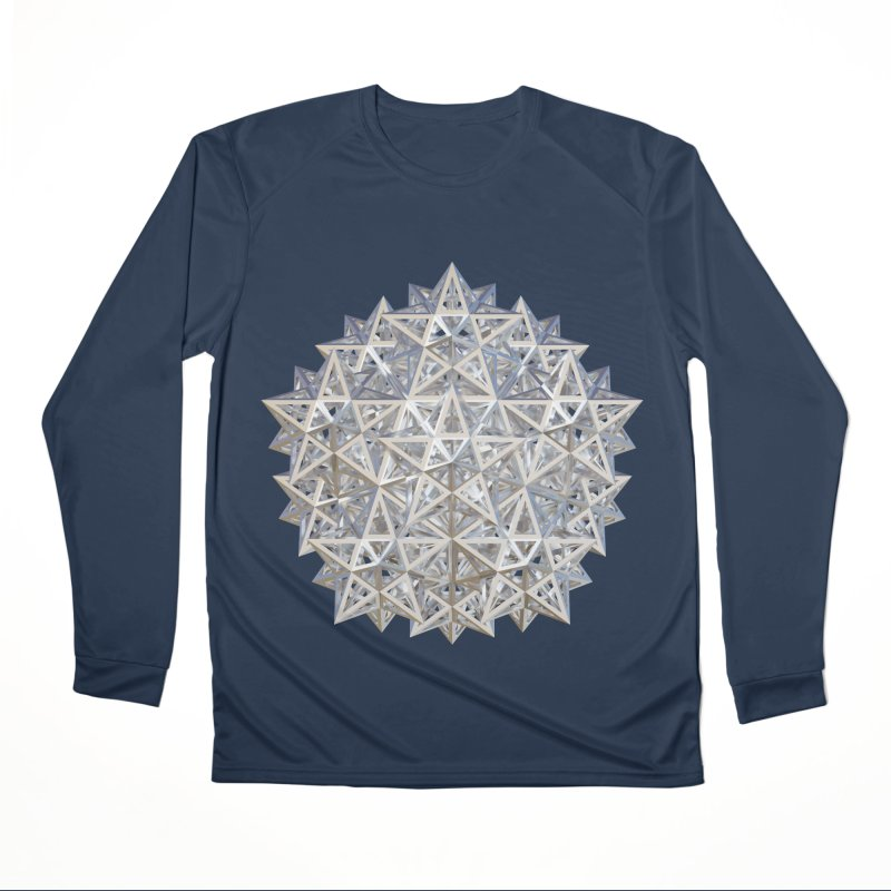 14 Stellated Dodecahedrons Silver Men's Longsleeve T-Shirt by diamondheart's Artist Shop