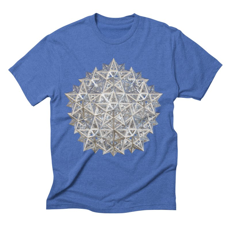 14 Stellated Dodecahedrons Silver Men's T-Shirt by diamondheart's Artist Shop