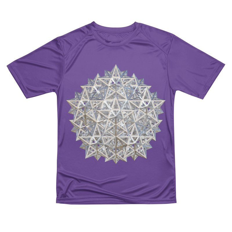 14 Stellated Dodecahedrons Silver Men's Performance T-Shirt by diamondheart's Artist Shop