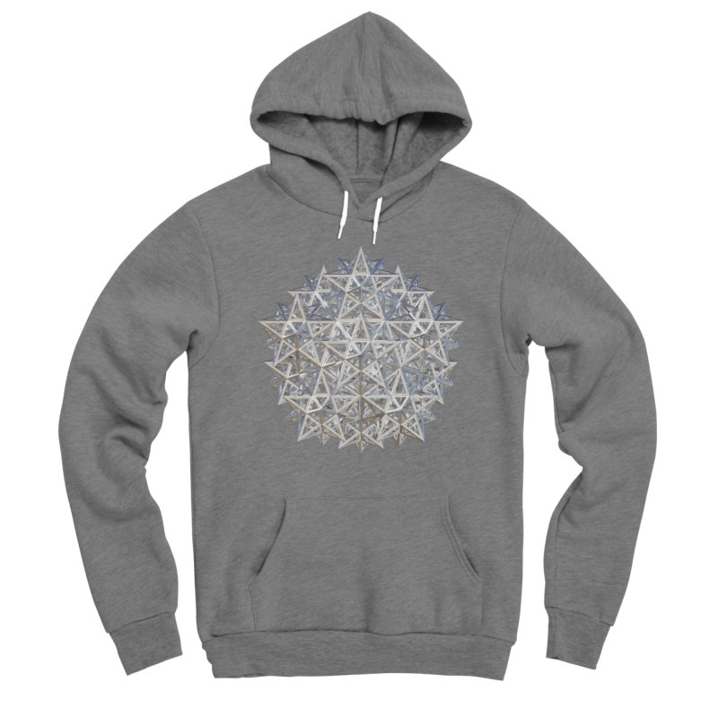 14 Stellated Dodecahedrons Silver Women's Sponge Fleece Pullover Hoody by diamondheart's Artist Shop
