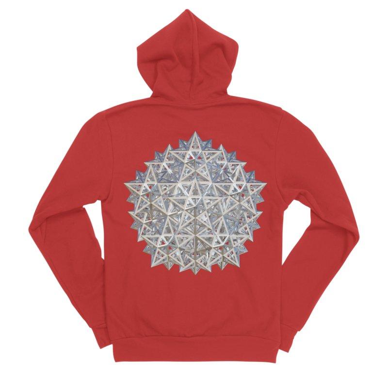 14 Stellated Dodecahedrons Silver Men's Sponge Fleece Zip-Up Hoody by diamondheart's Artist Shop