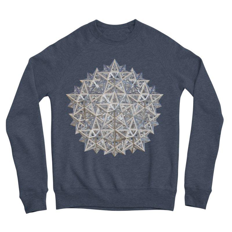14 Stellated Dodecahedrons Silver Men's Sponge Fleece Sweatshirt by diamondheart's Artist Shop