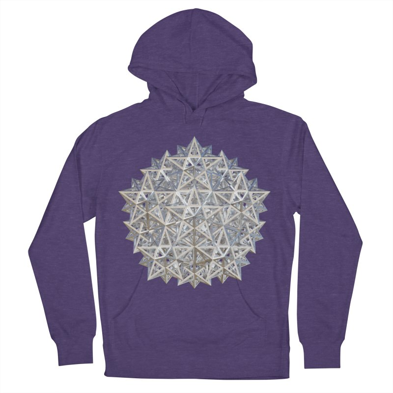 14 Stellated Dodecahedrons Silver Men's French Terry Pullover Hoody by diamondheart's Artist Shop
