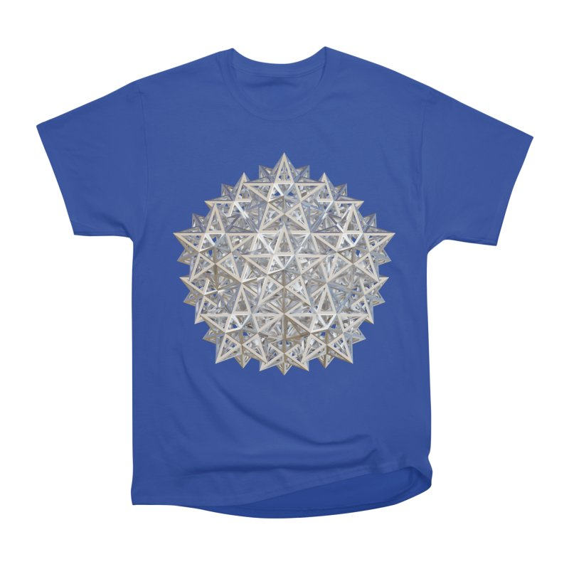 14 Stellated Dodecahedrons Silver Women's Heavyweight Unisex T-Shirt by diamondheart's Artist Shop