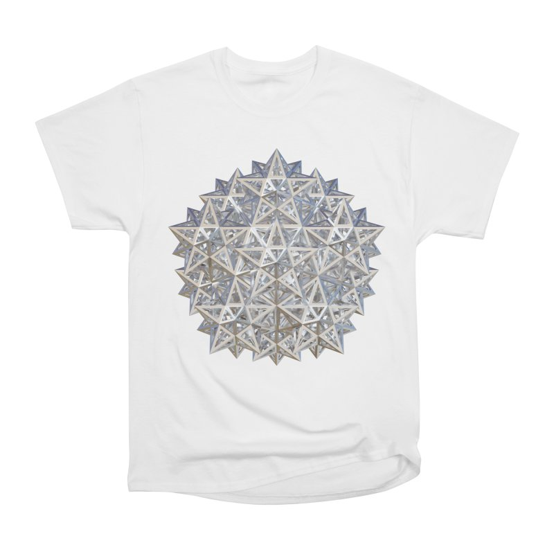 14 Stellated Dodecahedrons Silver Men's Heavyweight T-Shirt by diamondheart's Artist Shop