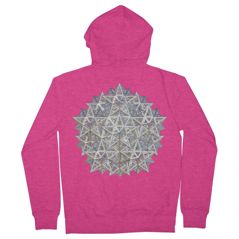 14 Stellated Dodecahedrons Silver Women's French Terry Zip-Up Hoody by diamondheart's Artist Shop