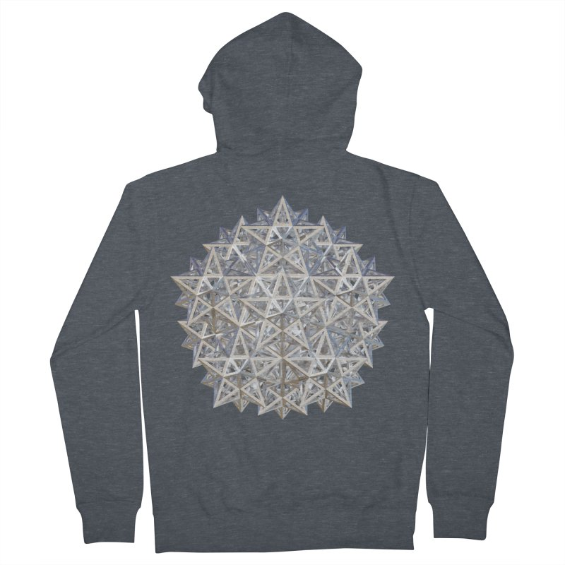 14 Stellated Dodecahedrons Silver Men's French Terry Zip-Up Hoody by diamondheart's Artist Shop