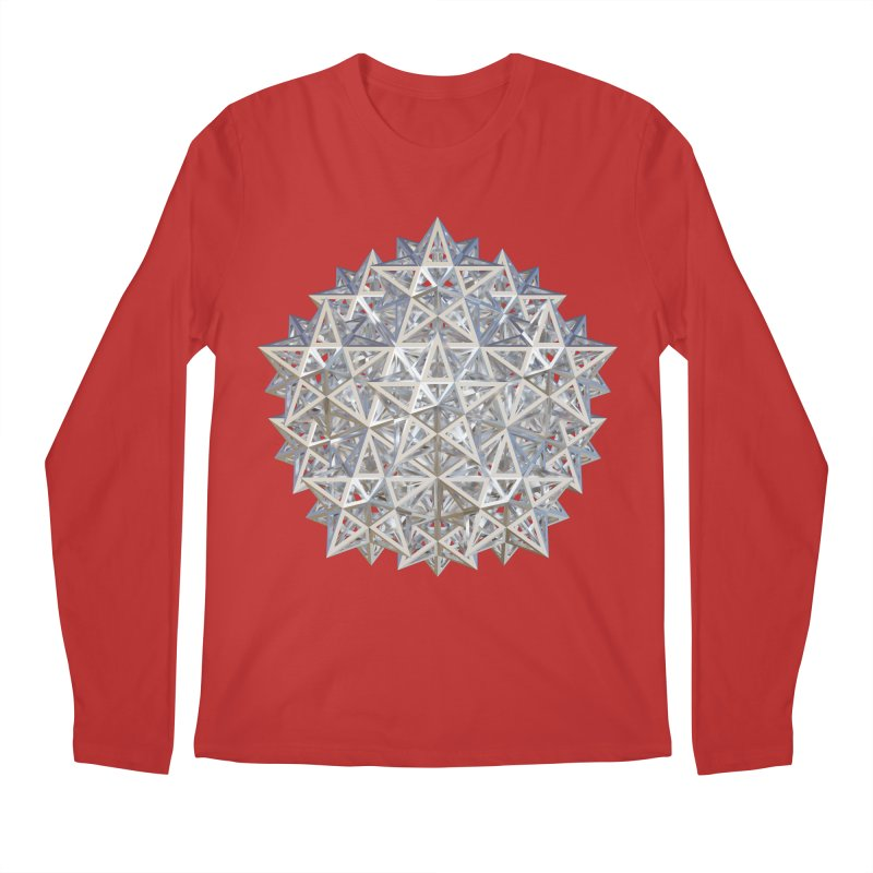 14 Stellated Dodecahedrons Silver Men's Regular Longsleeve T-Shirt by diamondheart's Artist Shop