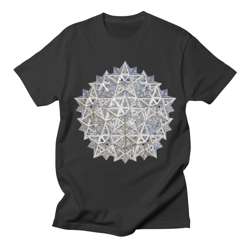 14 Stellated Dodecahedrons Silver Men's Regular T-Shirt by diamondheart's Artist Shop