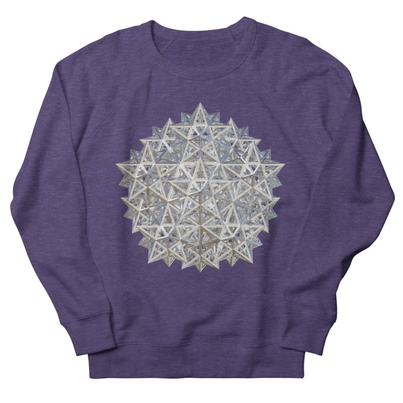 14 Stellated Dodecahedrons Silver Women's French Terry Sweatshirt by diamondheart's Artist Shop
