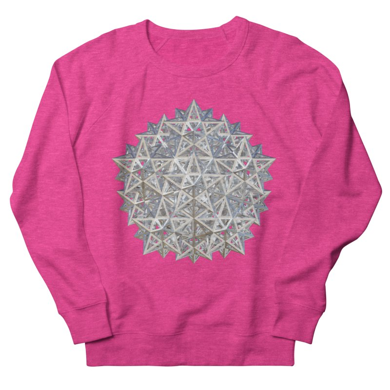 14 Stellated Dodecahedrons Silver Men's French Terry Sweatshirt by diamondheart's Artist Shop
