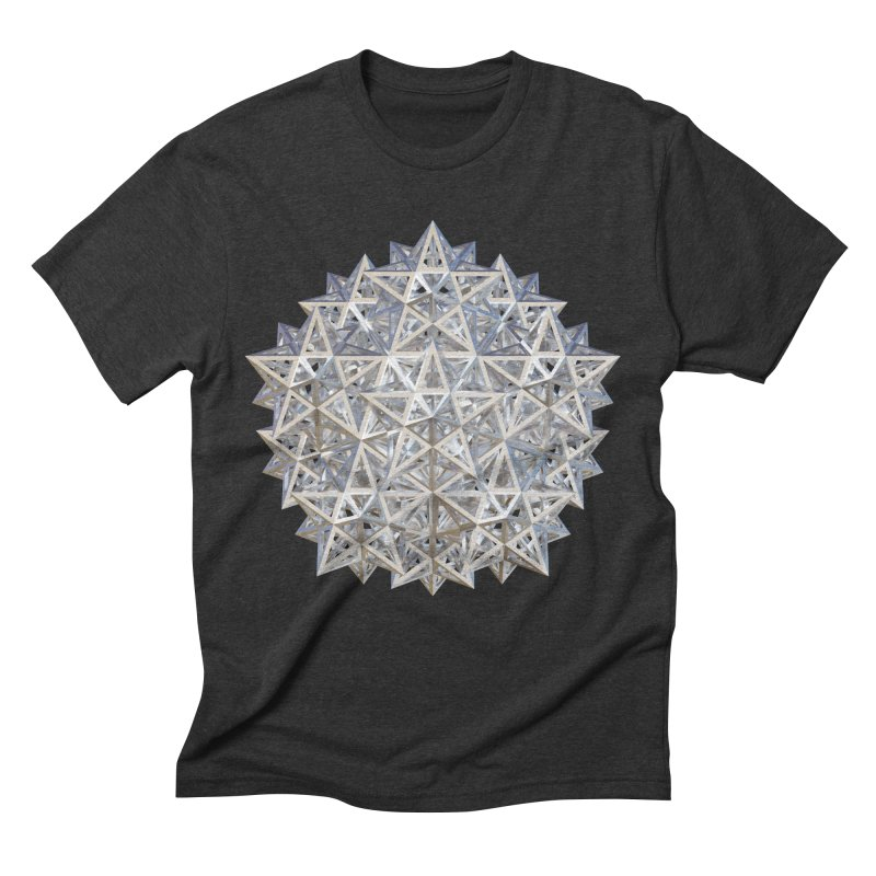 14 Stellated Dodecahedrons Silver Men's Triblend T-Shirt by diamondheart's Artist Shop