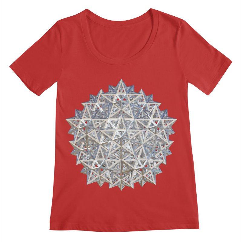 14 Stellated Dodecahedrons Silver Women's Regular Scoop Neck by diamondheart's Artist Shop