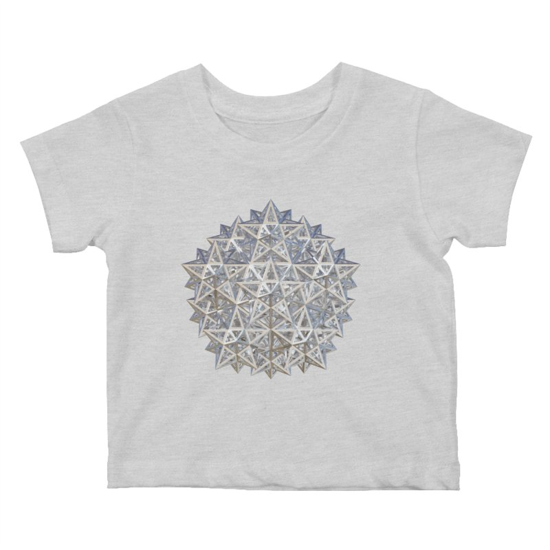 14 Stellated Dodecahedrons Silver Kids Baby T-Shirt by diamondheart's Artist Shop