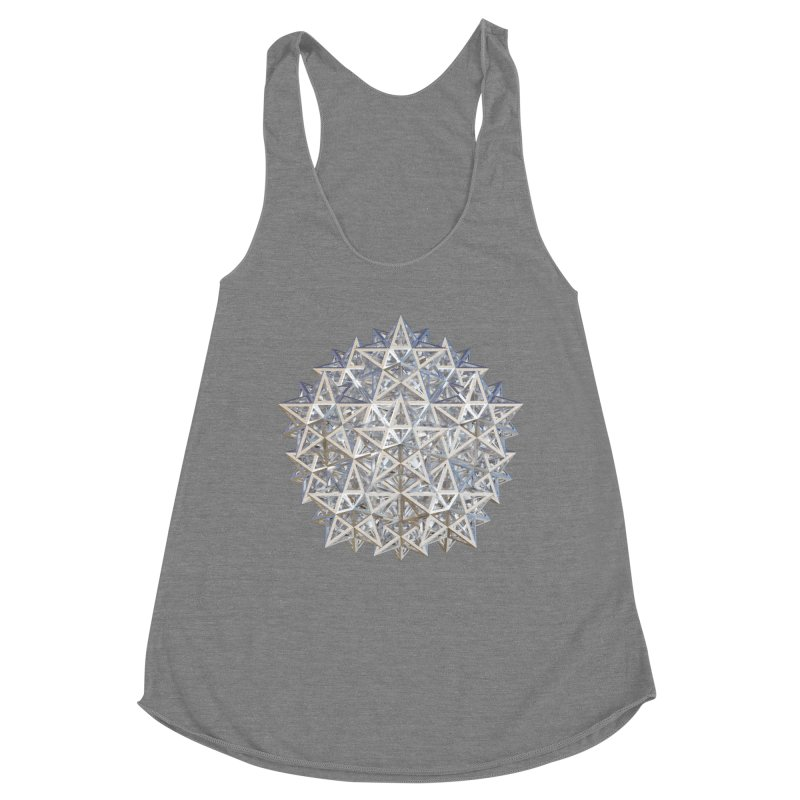 14 Stellated Dodecahedrons Silver Women's Racerback Triblend Tank by diamondheart's Artist Shop