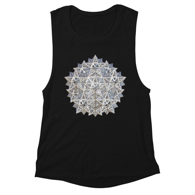 14 Stellated Dodecahedrons Silver Women's Muscle Tank by diamondheart's Artist Shop