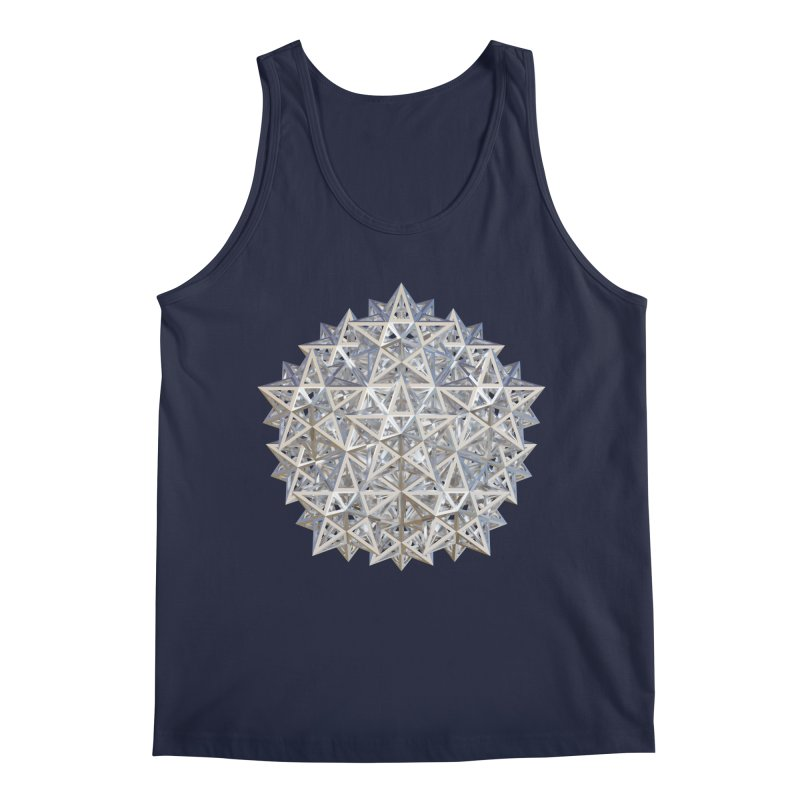 14 Stellated Dodecahedrons Silver Men's Regular Tank by diamondheart's Artist Shop