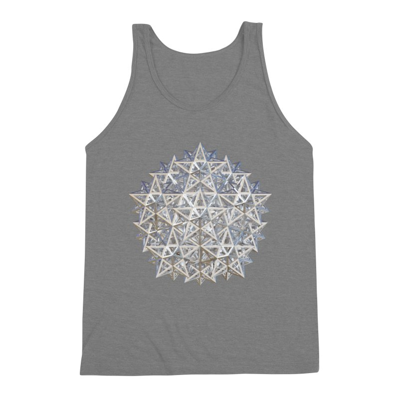 14 Stellated Dodecahedrons Silver Men's Triblend Tank by diamondheart's Artist Shop