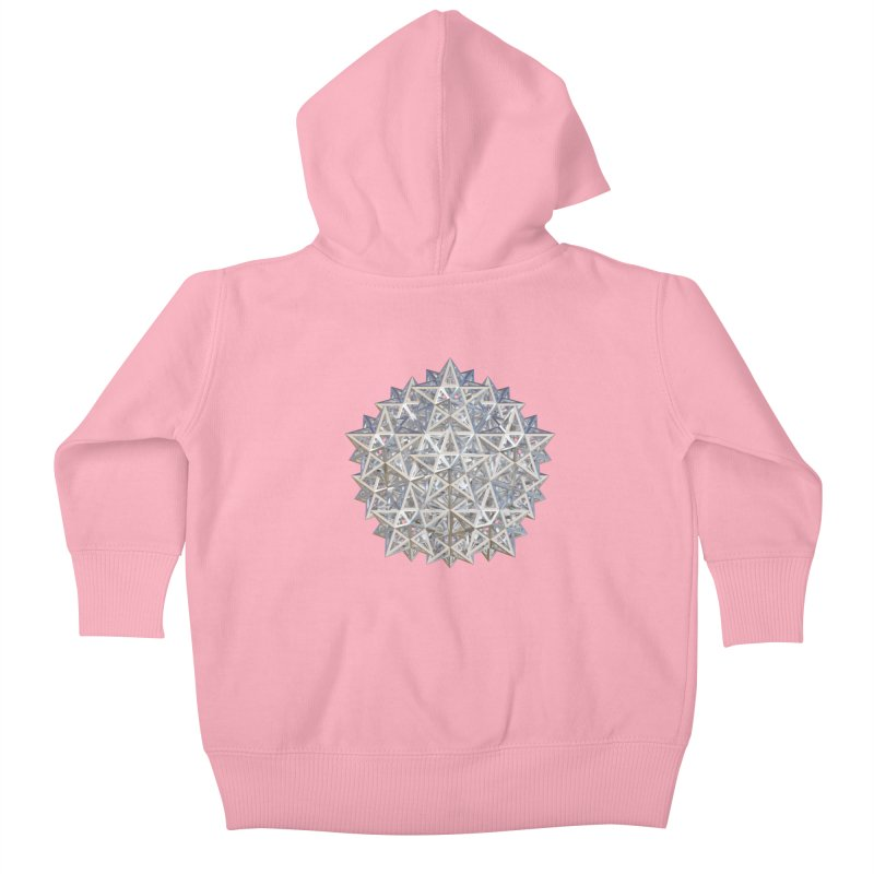 14 Stellated Dodecahedrons Silver Kids Baby Zip-Up Hoody by diamondheart's Artist Shop