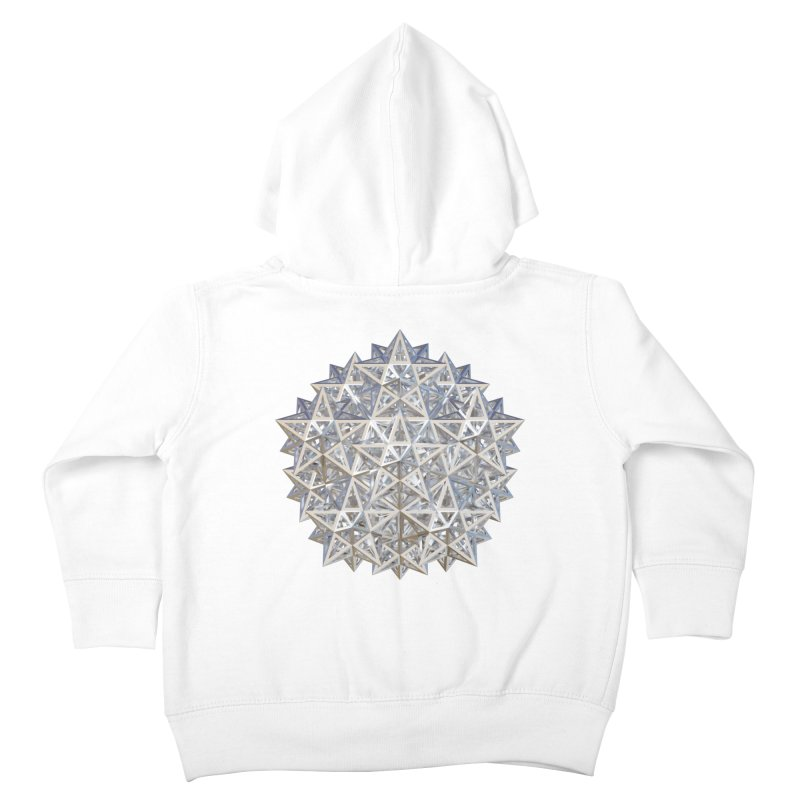 14 Stellated Dodecahedrons Silver Kids Toddler Zip-Up Hoody by diamondheart's Artist Shop