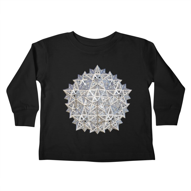 14 Stellated Dodecahedrons Silver Kids Toddler Longsleeve T-Shirt by diamondheart's Artist Shop