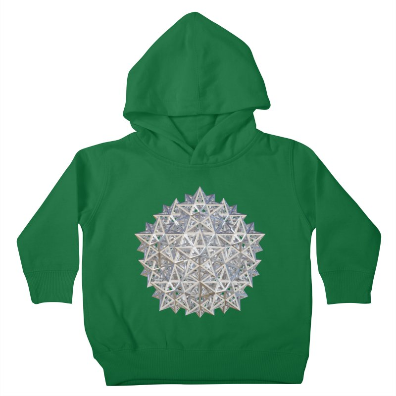 14 Stellated Dodecahedrons Silver Kids Toddler Pullover Hoody by diamondheart's Artist Shop