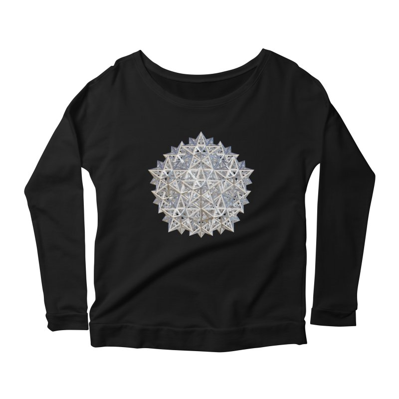 14 Stellated Dodecahedrons Silver Women's Scoop Neck Longsleeve T-Shirt by diamondheart's Artist Shop