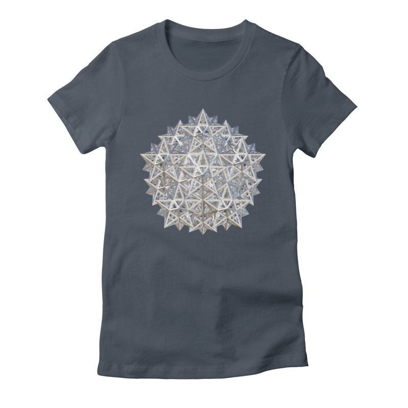 14 Stellated Dodecahedrons Silver Women's T-Shirt by diamondheart's Artist Shop