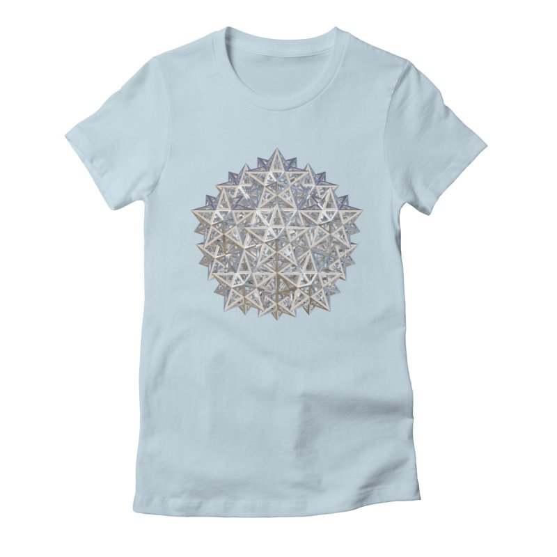 14 Stellated Dodecahedrons Silver Women's Fitted T-Shirt by diamondheart's Artist Shop
