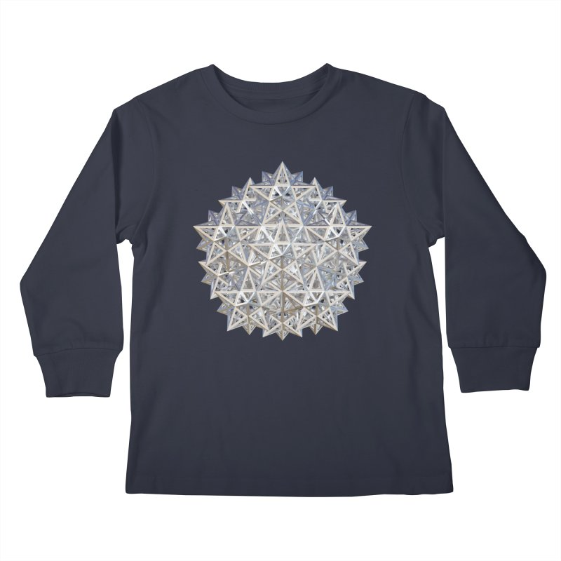 14 Stellated Dodecahedrons Silver Kids Longsleeve T-Shirt by diamondheart's Artist Shop