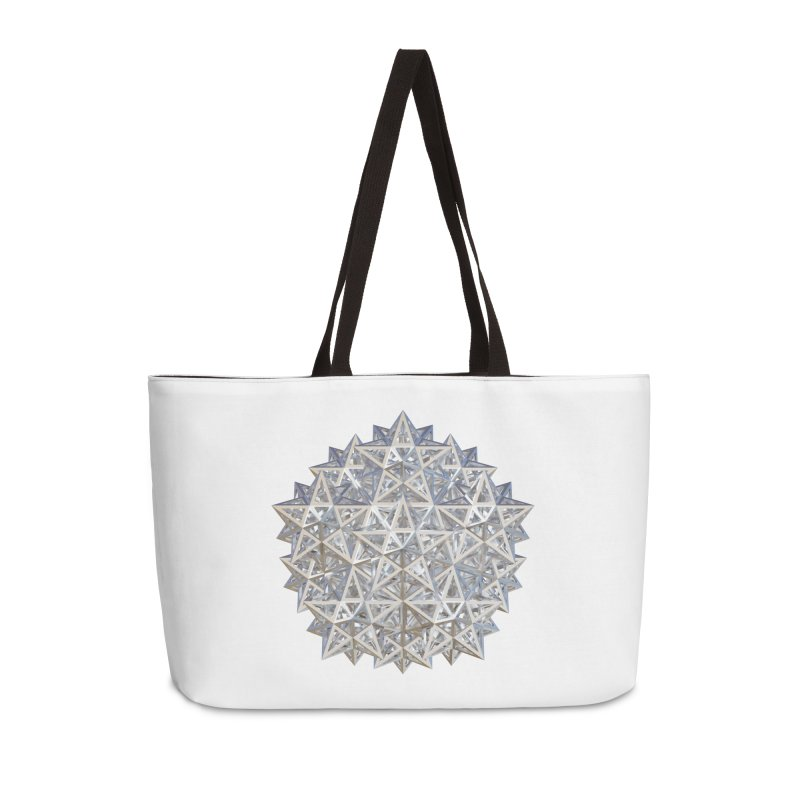 14 Stellated Dodecahedrons Silver Accessories Weekender Bag Bag by diamondheart's Artist Shop