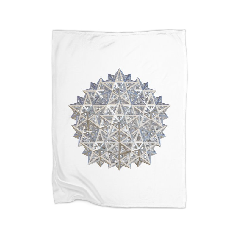 14 Stellated Dodecahedrons Silver Home Fleece Blanket Blanket by diamondheart's Artist Shop