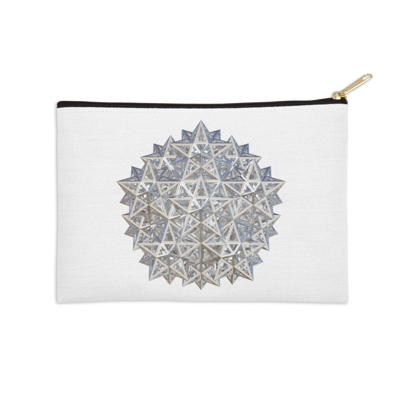 14 Stellated Dodecahedrons Silver Accessories Zip Pouch by diamondheart's Artist Shop