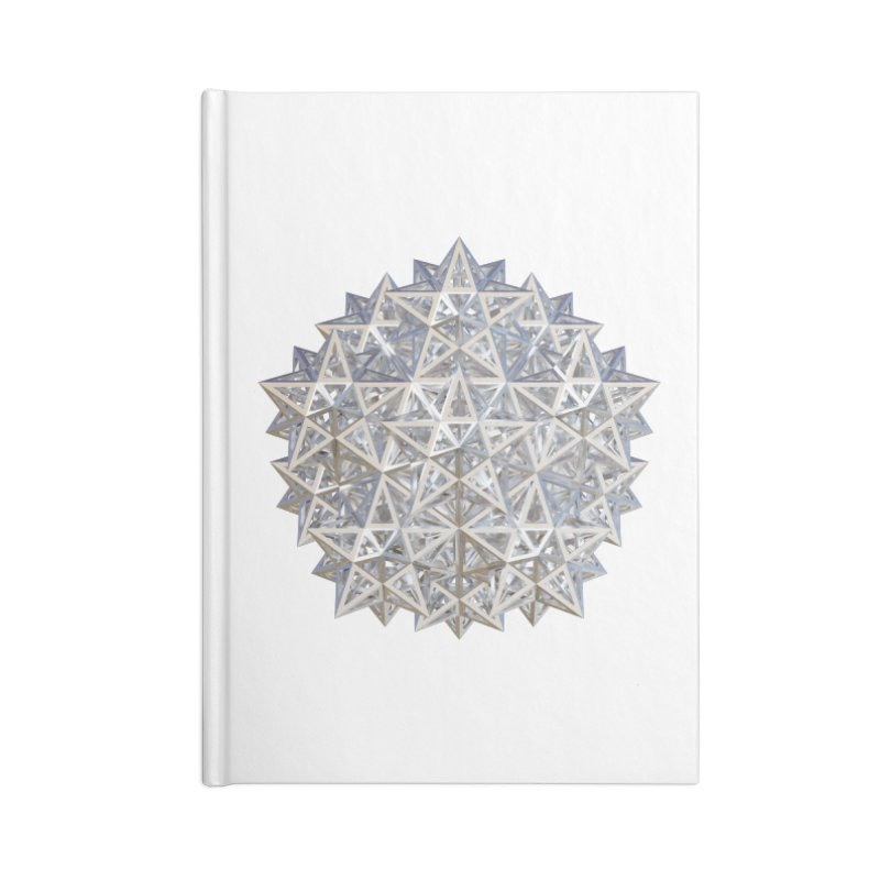 14 Stellated Dodecahedrons Silver Accessories Blank Journal Notebook by diamondheart's Artist Shop
