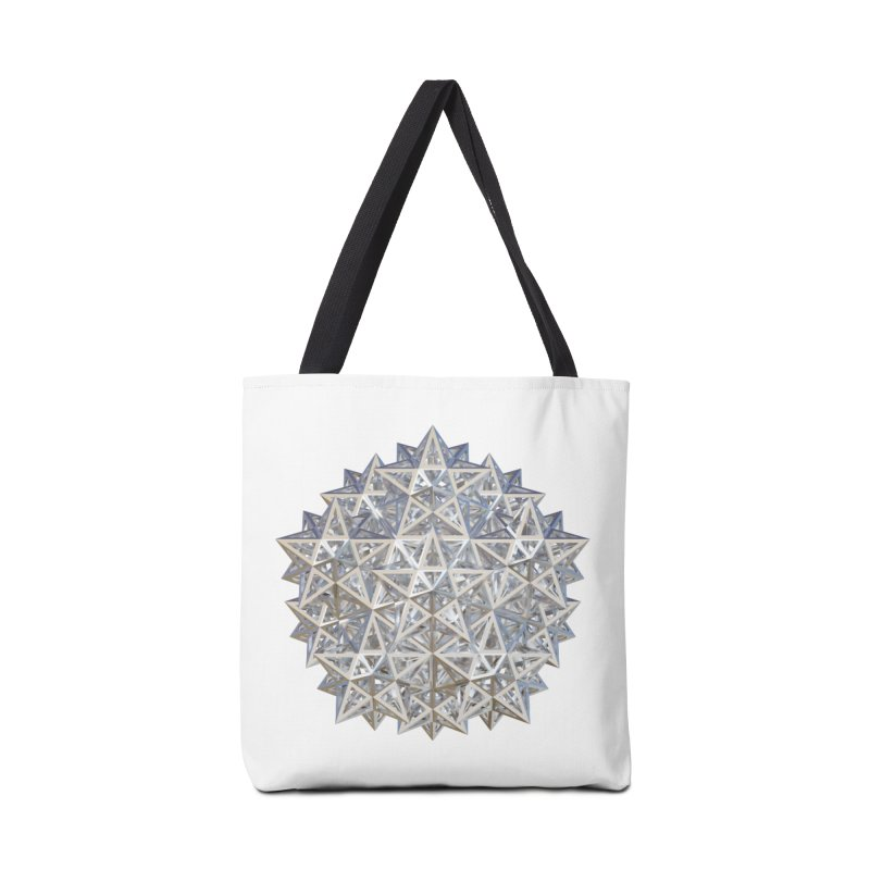 14 Stellated Dodecahedrons Silver Accessories Tote Bag Bag by diamondheart's Artist Shop