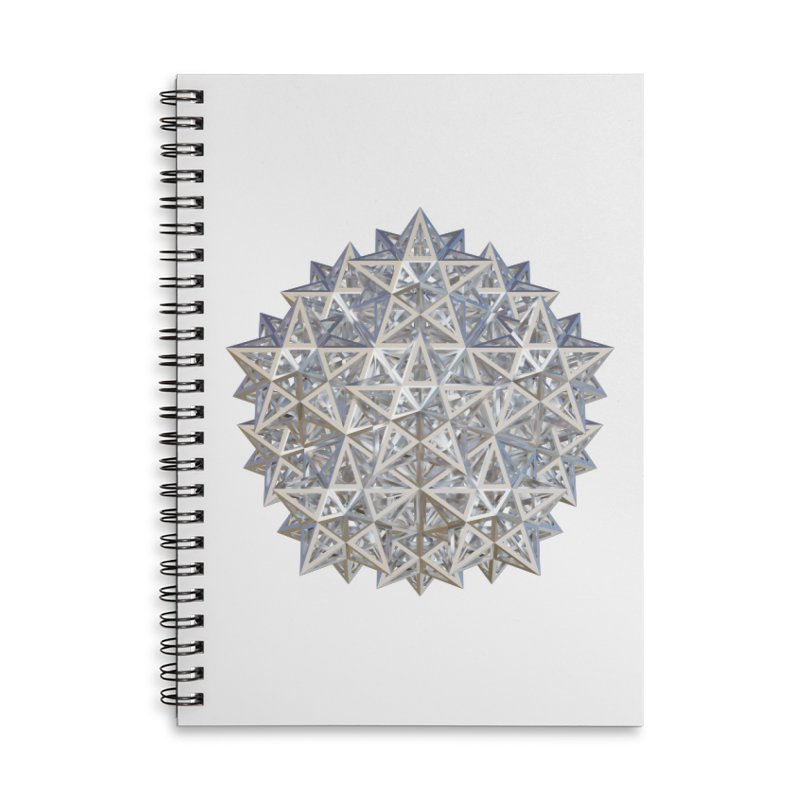 14 Stellated Dodecahedrons Silver Accessories Lined Spiral Notebook by diamondheart's Artist Shop